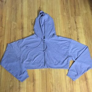 Wild Fable Women's Micro Cropped ZIP-Up Hoodie. XL